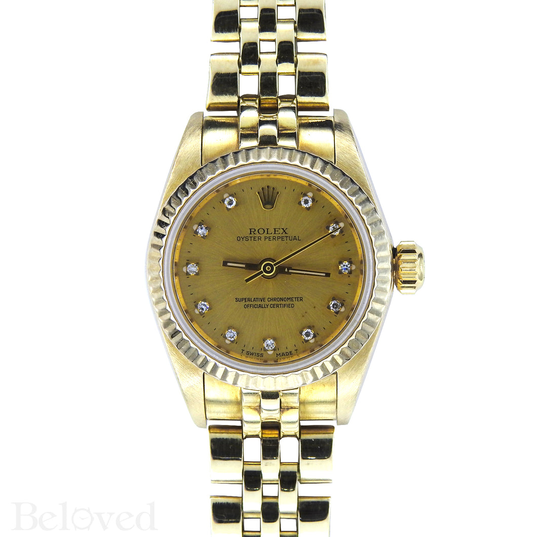 Rolex Datejust 67917 Factory Diamond Dial Image 1
