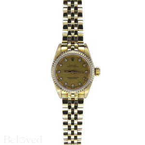 Rolex Datejust 67917 Factory Diamond Dial Image 2