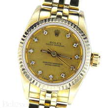 Load image into Gallery viewer, Rolex Datejust 67917 Factory Diamond Dial Image 3