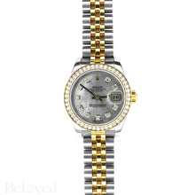 Load image into Gallery viewer, Rolex Datejust 179383 Full Factory Diamond Bezel Factory White Mother of Pearl Diamond Dial Image 2