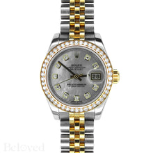 Load image into Gallery viewer, Rolex Datejust 179383 Full Factory Diamond Bezel Factory White Mother of Pearl Diamond Dial Image 3