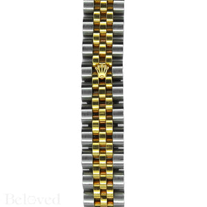 Rolex Datejust 179383 Full Factory Diamond Bezel Factory White Mother of Pearl Diamond Dial Image 6