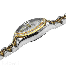 Load image into Gallery viewer, Rolex Datejust 179383 Full Factory Diamond Bezel Factory White Mother of Pearl Diamond Dial Image 7