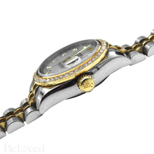Load image into Gallery viewer, Rolex Datejust 179383 Full Factory Diamond Bezel Factory White Mother of Pearl Diamond Dial Image 8