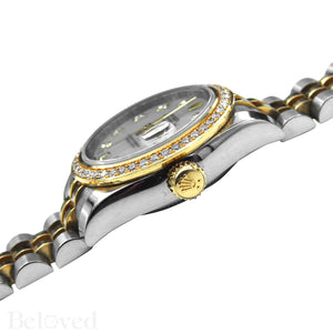 Rolex Datejust 179383 Full Factory Diamond Bezel Factory White Mother of Pearl Diamond Dial Image 8