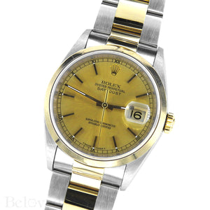 Rolex Datejust 16203 Champagne Smooth Bezel Image 2