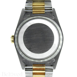 Rolex Datejust 16203 Champagne Smooth Bezel Image 3