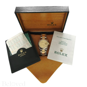 Rolex Datejust 16203 Champagne Smooth Bezel Image 10