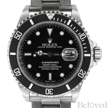 Load image into Gallery viewer, Rolex Submariner 16610 Complete with Rolex One-Year Warranty Paper and Rolex Box Image 1