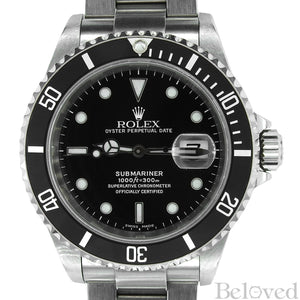 Rolex Submariner 16610 Complete with Rolex One-Year Warranty Paper and Rolex Box Image 1