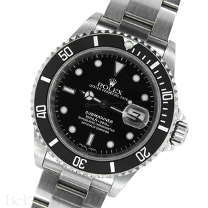 Rolex Submariner 16610 Complete with Rolex One-Year Warranty Paper and Rolex Box Image 3