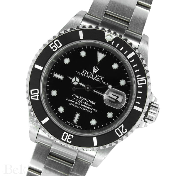 Rolex Submariner 16610 Complete with One Year Warranty Paper