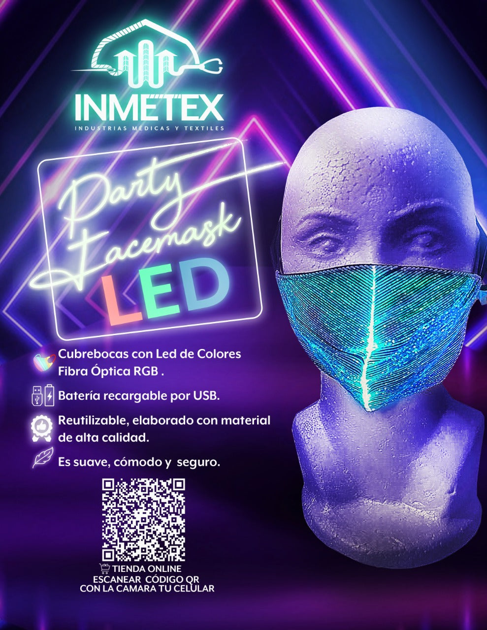 PARTY FACEMASK LED
