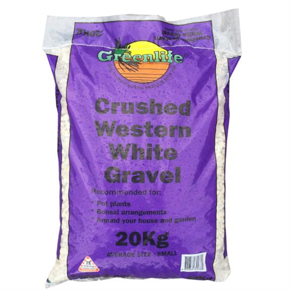 Crushed White Medium Pebbles Gravel