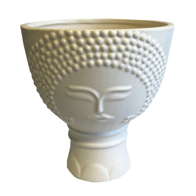 Bettina Ceramic White Planter