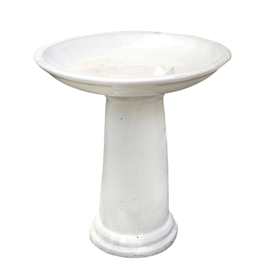 Ceramic White Bird Bath