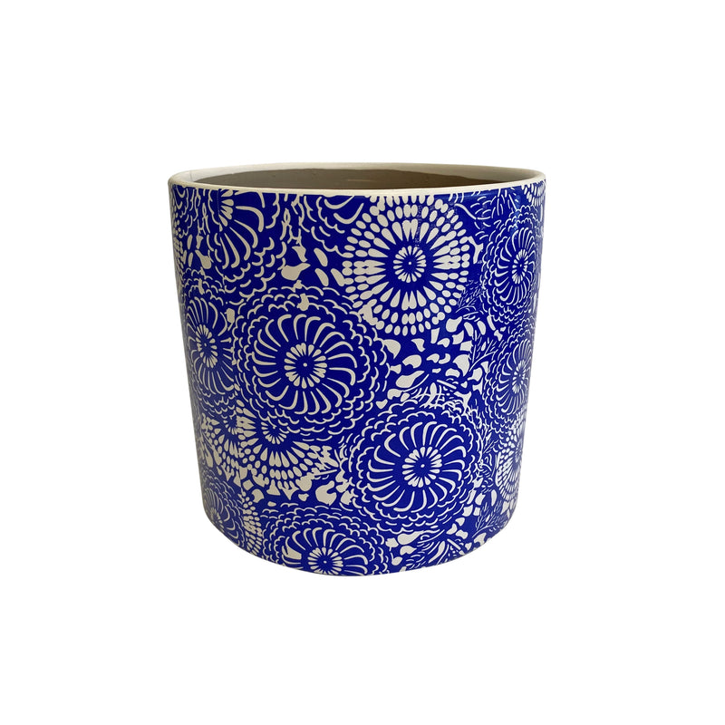 Ceramic Pot Blue Medium