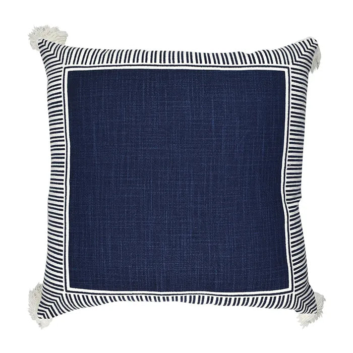 Cushion Delta Cotton Navy & White