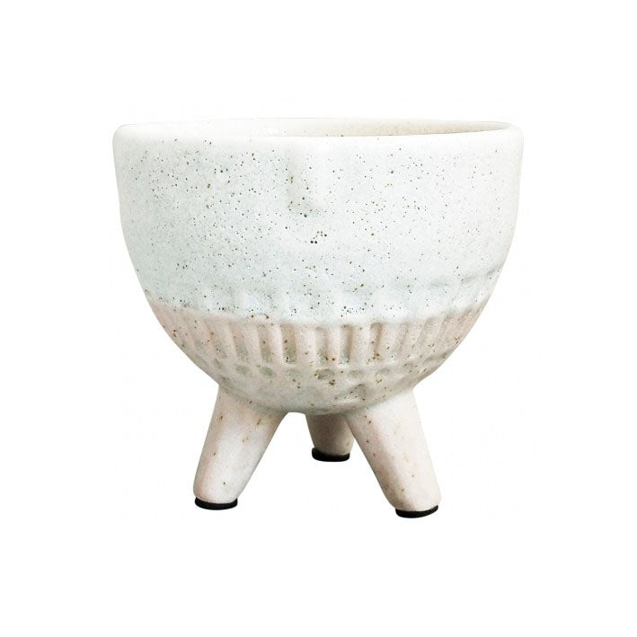 Ceramic Pink Round Face Planter on Legs Small