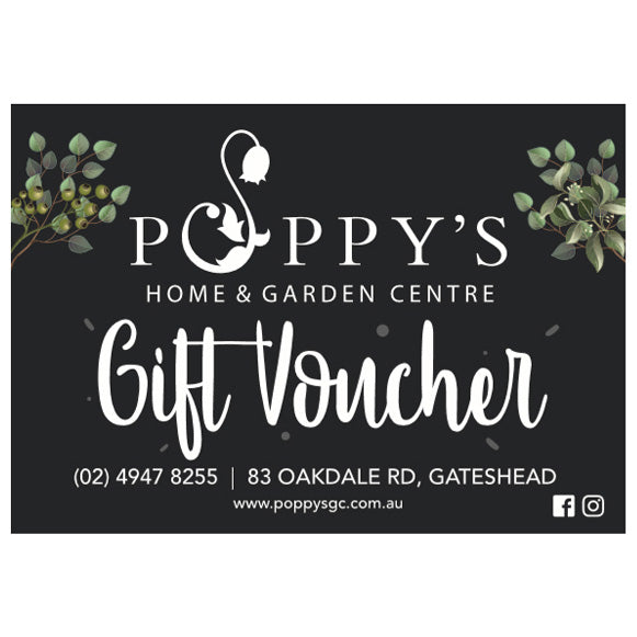 Gift Voucher at Poppy's Home and Garden Newcastle