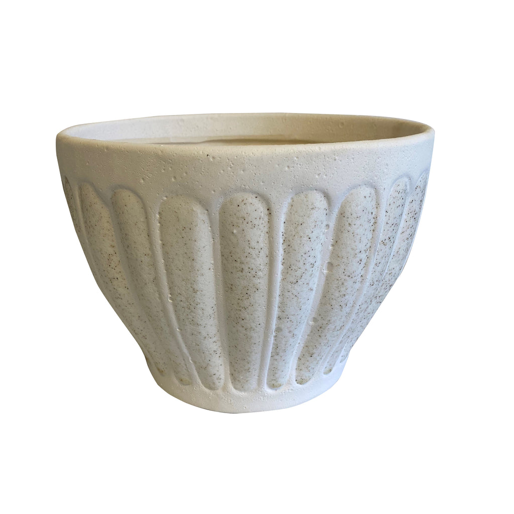 Gogh Ceramic Pot White Sand