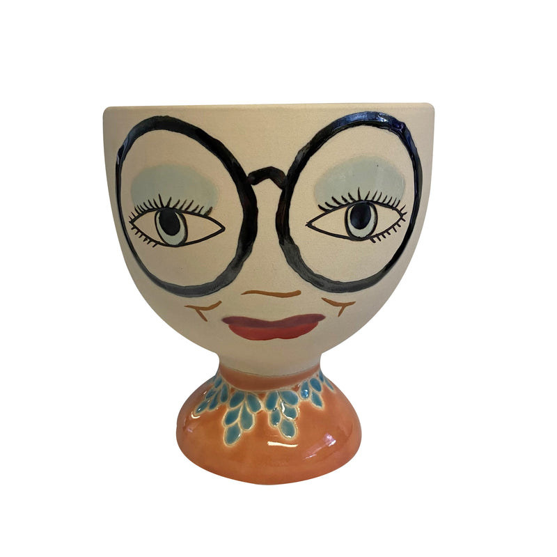 Iris Ceramic Face Planter