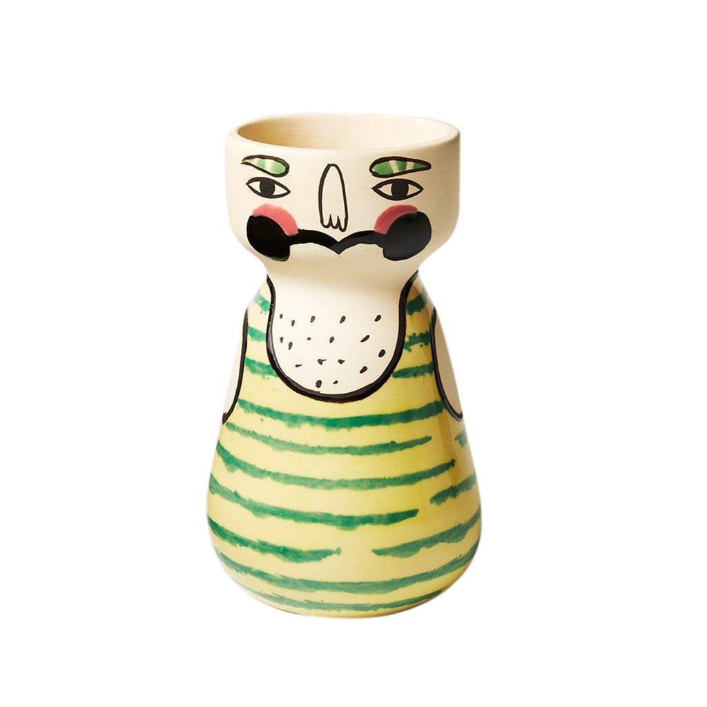Maxime Ceramic Face Vase Planter