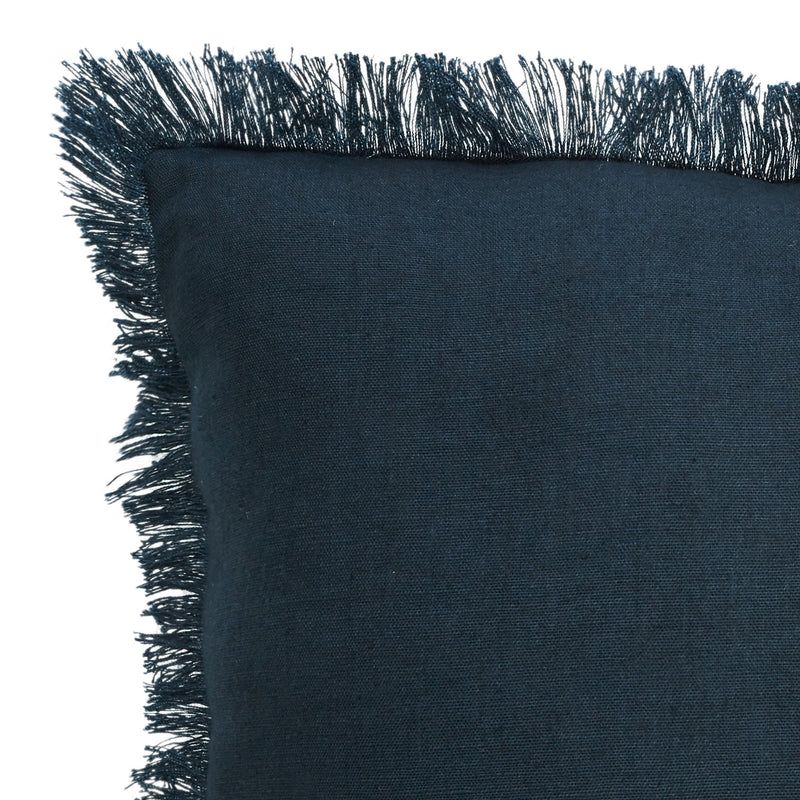 Cushion Porter Fringe Navy Detail