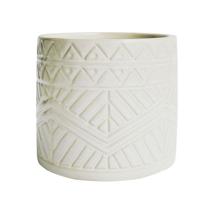Ceramic Sahara White Pot Planter 13cm