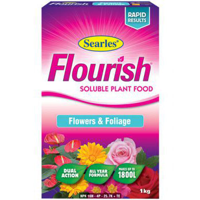 Searles Flourish Flowers and Foliage Soluble Plant Food 1kg