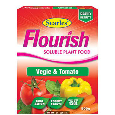 Searles Flourish Vegie and Tomato Soluble Plant Food 500g