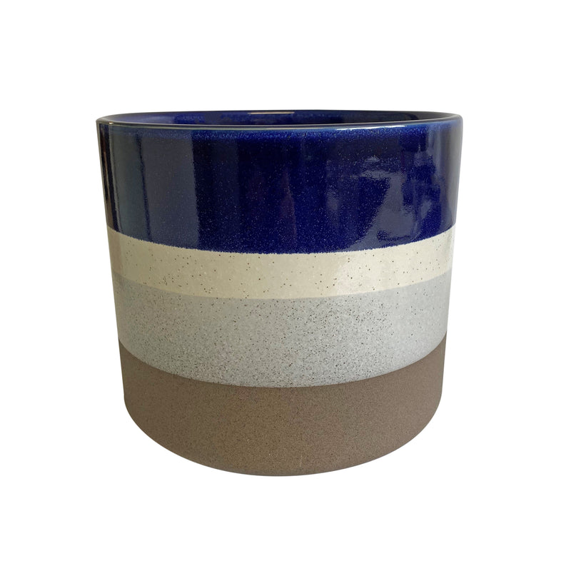 Sheena Ceramic Pot Blue/Natural