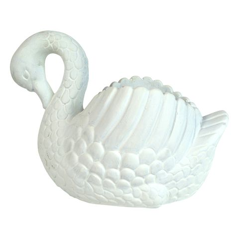 Cement Sybil Swan White Planter
