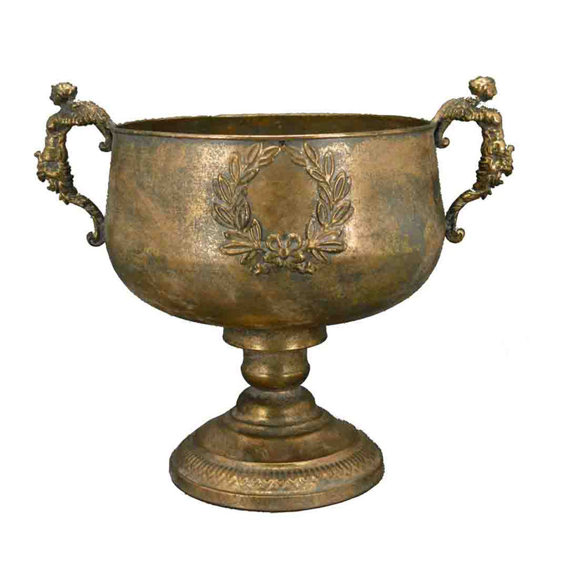 Antique Gold Metal Urn