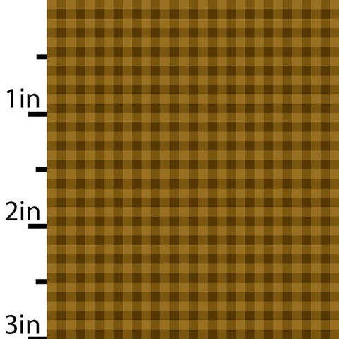 Gold and Brown check - 2799-33