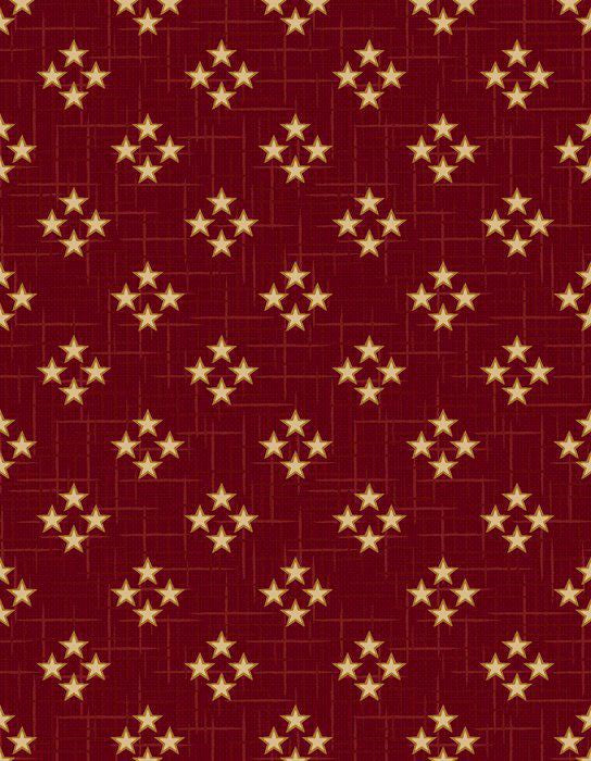 Red 4 Star with beige star 3333-88