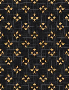 Black 4 Star fabric - 3333-99