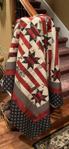 Americana - Red Railroad fabric kit