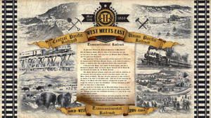Transcontinental Railroad Fabric Panel 3377p-33