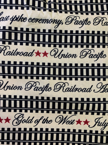 Railroad Stripe cream background 7777-30