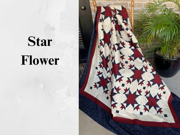Star Flower / Fruit Salad pattern - 2 patterns ePattern