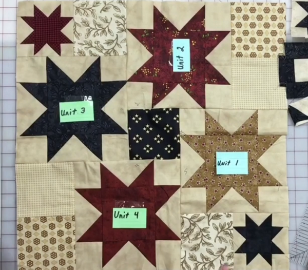 Twisted Star/Partial Seam (includes Americana quilt pattern) ePattern download