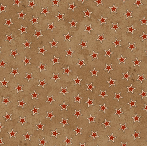 Tan with red stars - 3378-33