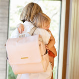 Boxy Backpack - Blush Leatherette