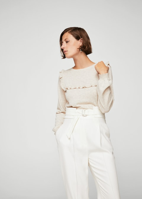MANGO-Ruffled detail sweater