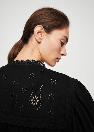 MANGO-Openwork cotton blouse