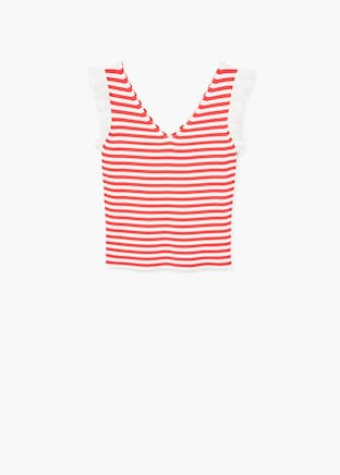 MANGO-Striped knit top