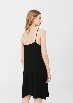 MANGO-Strap flowy dress