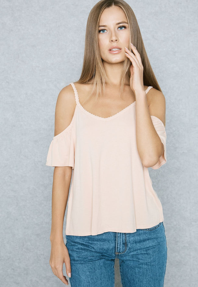 MANGO-Cold Shoulder T-Shirt
