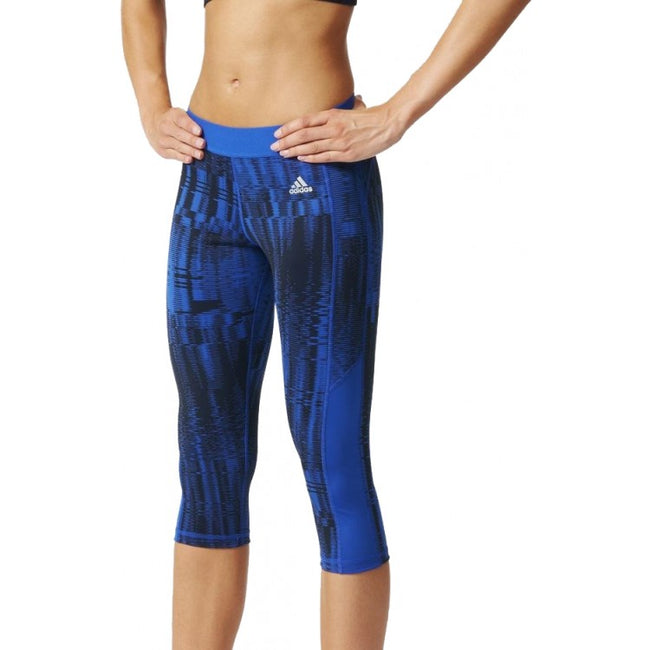 adidas Tech-Fit 3/4 Capri Womens Running Tights - Blue